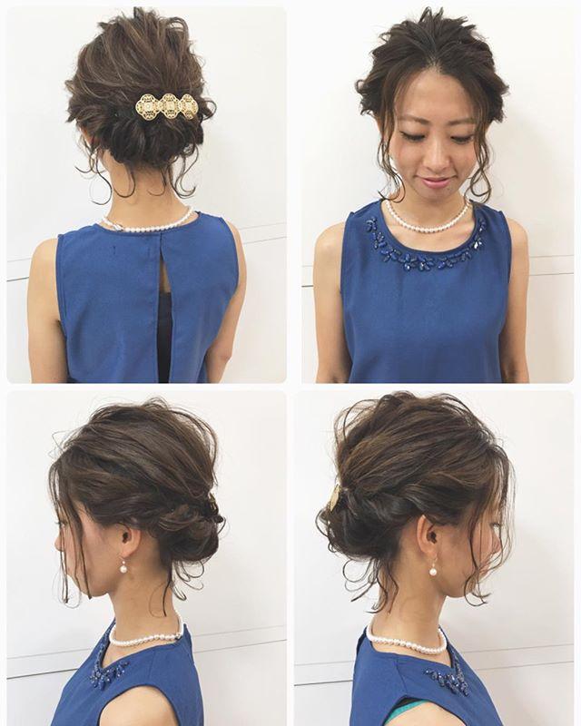 結婚式 ボブヘア 髪飾り3