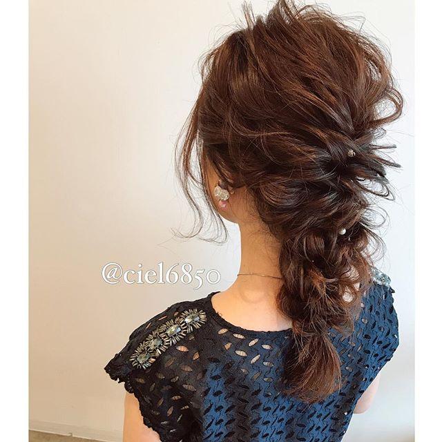 結婚式 ロングヘア 髪飾り9