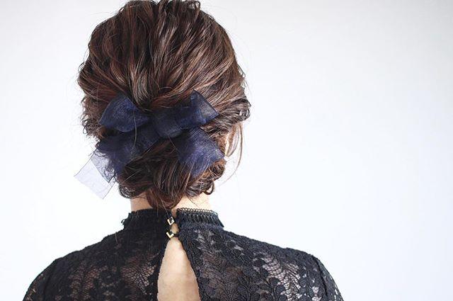 結婚式 ミディアムヘア 髪飾り