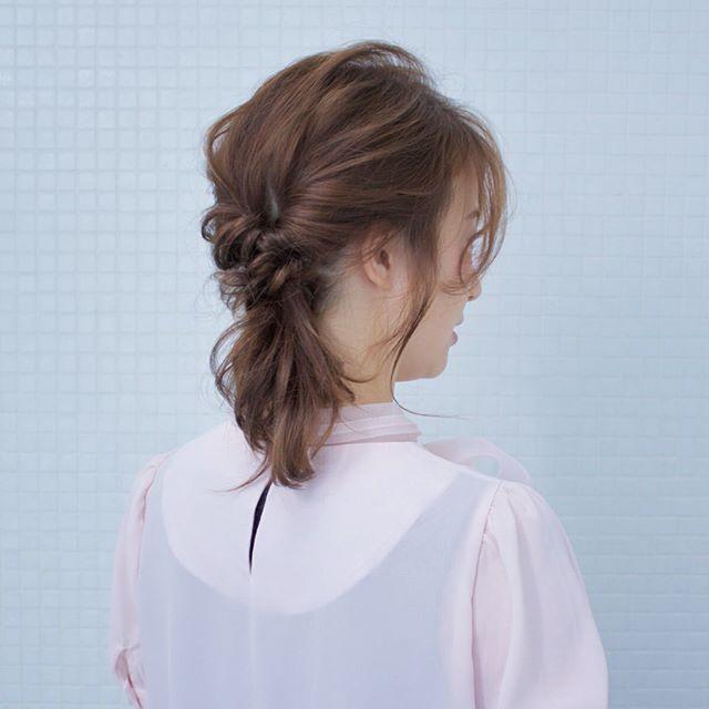 結婚式の髪型《ミディアム×ハーフアップヘア》16