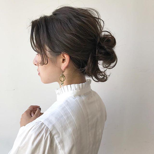 結婚式の髪型《ミディアム×ハーフアップヘア》18