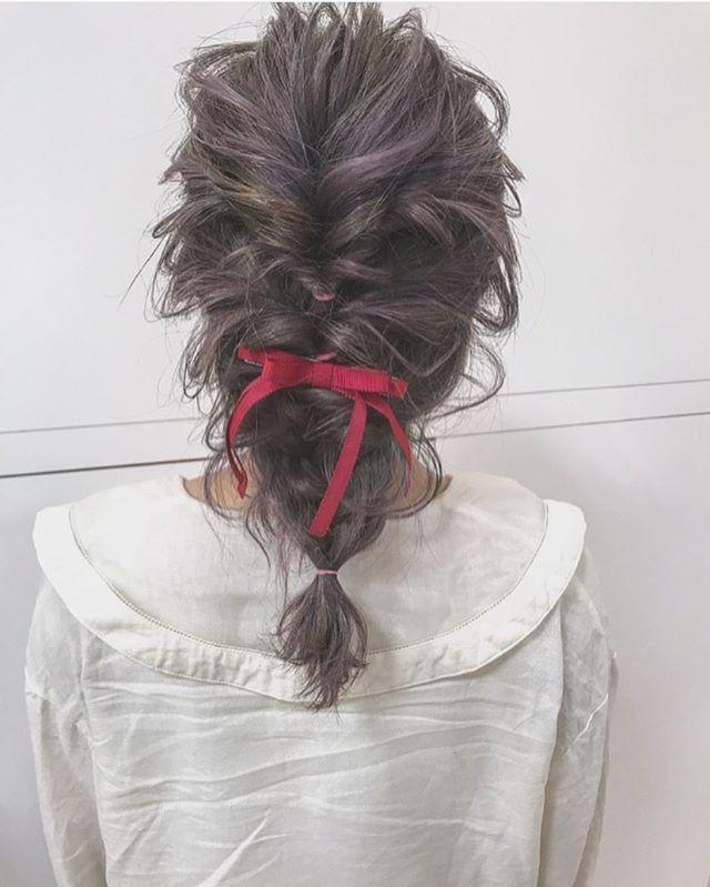 結婚式 ミディアムヘア 髪飾り4