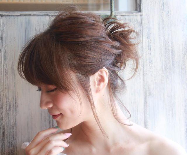 結婚式の髪型《ミディアム×アップヘア》14