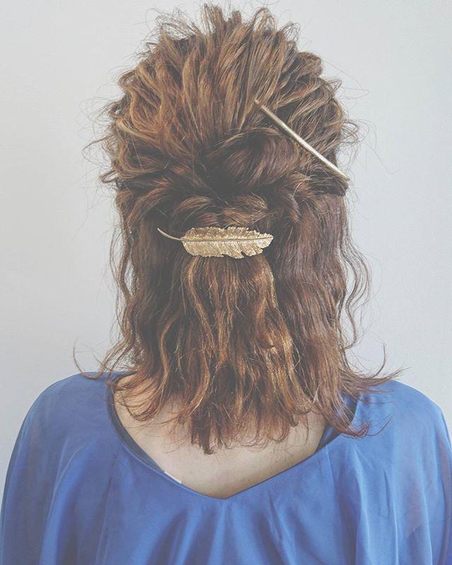 結婚式の髪型《ミディアム×ハーフアップヘア》6