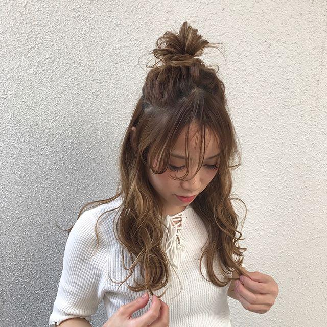 アレンジヘア ゆるふわパーマ4