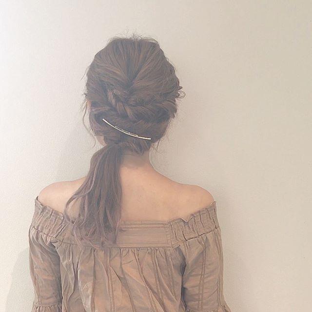 結婚式 ロングヘア 髪飾り3