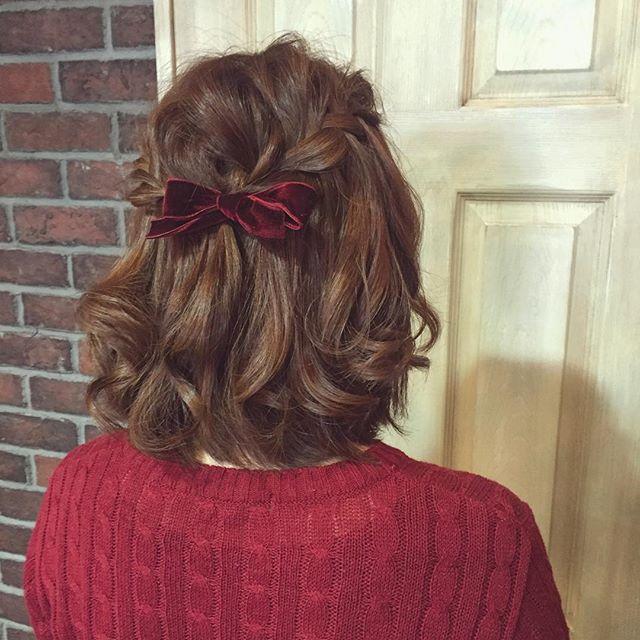 結婚式 ボブヘア 髪飾り4