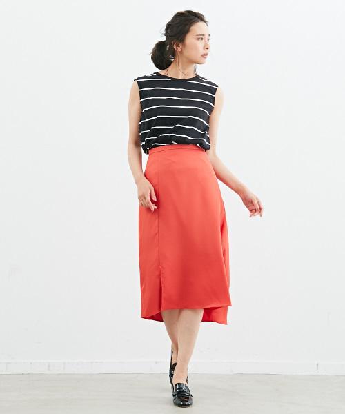 [Abahouse Devinette] ツイルアシンメトリースカート