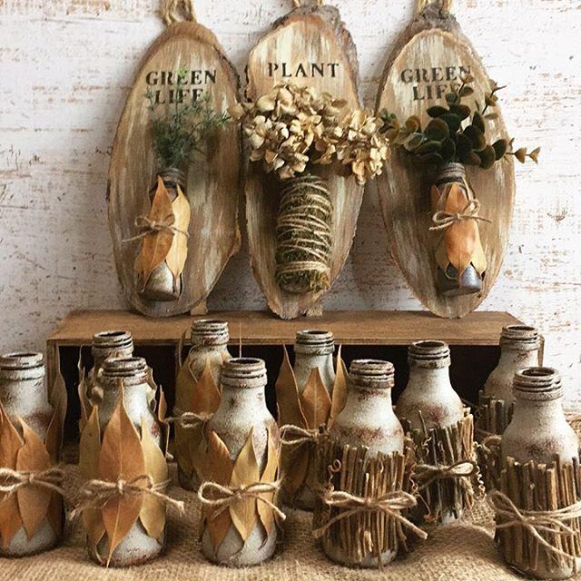 ガラス瓶を使ったアイディア2