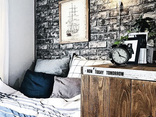 1DK 寝室インテリア 収納3