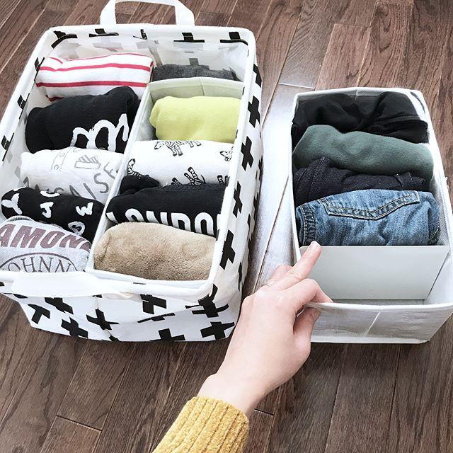 衣類を仕切り収納2