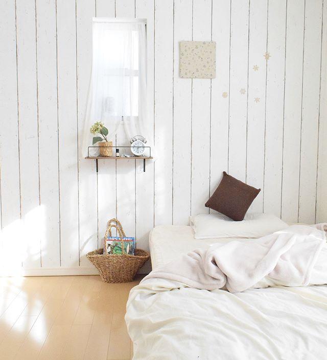 1DK 寝室インテリア 収納2