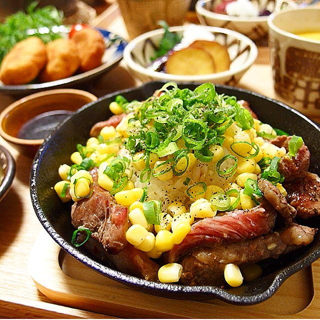 ペッパーランチ風牛肉ライス