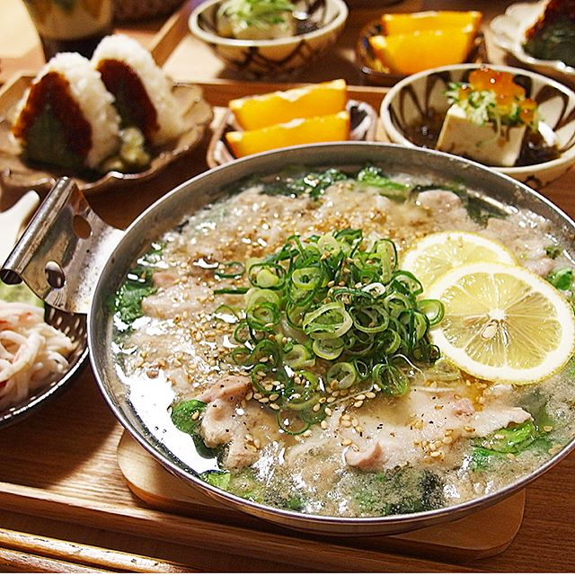 豚バラと白菜のねぎ塩鍋