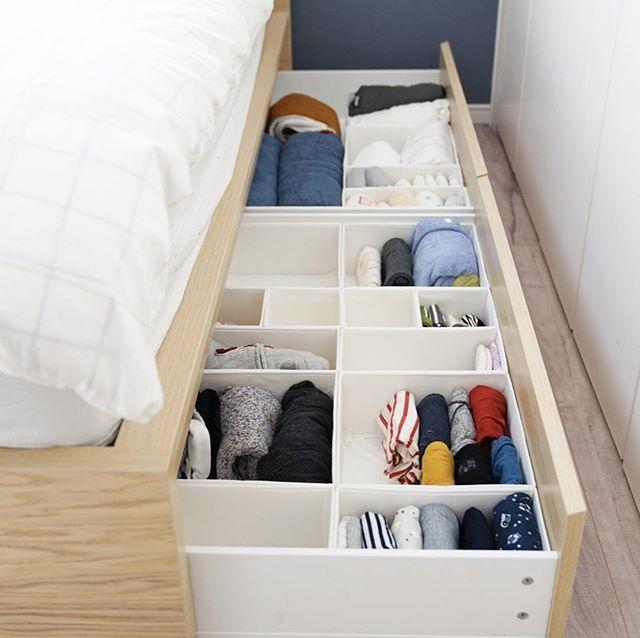 ニトリ・IKEAアイテムを活用した子供服収納アイデア☆