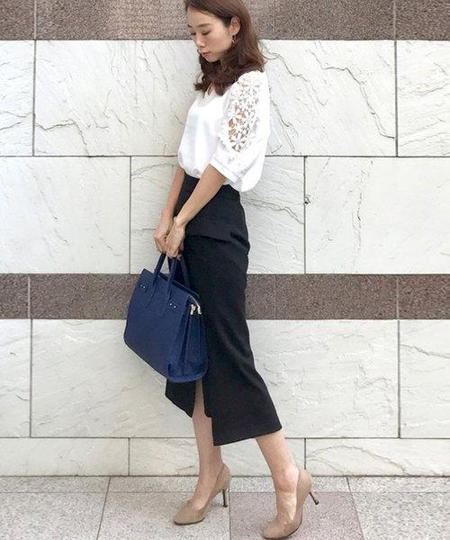 100[florist] 【2way】スカーフ付きオフィストートバッグ