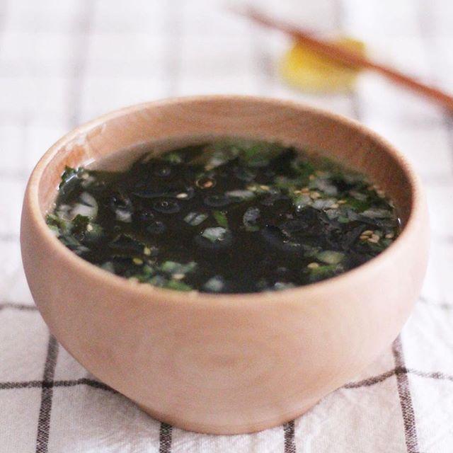 塩わかめスープ