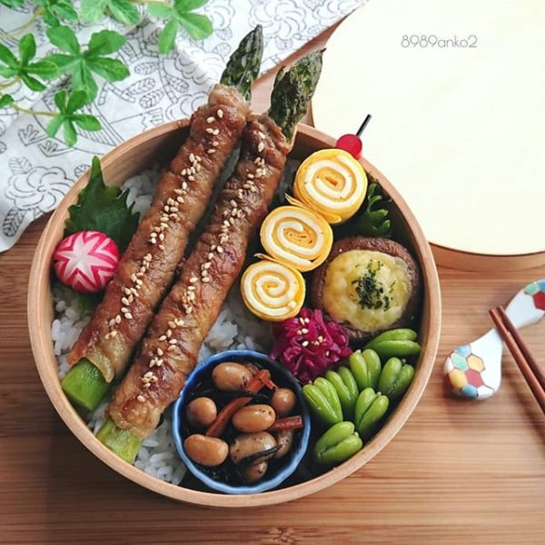 アスパラ肉巻き弁当