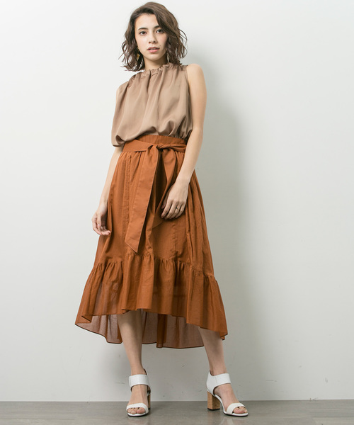 [STUDIOUS WOMENS] 【STUDIOUS】イレギュラーヘム ギャザースカート