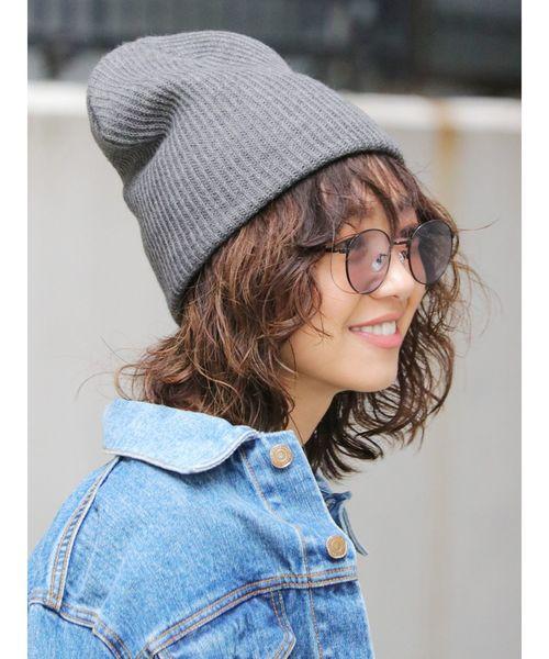 [Ungrid] リブ編みニット帽3