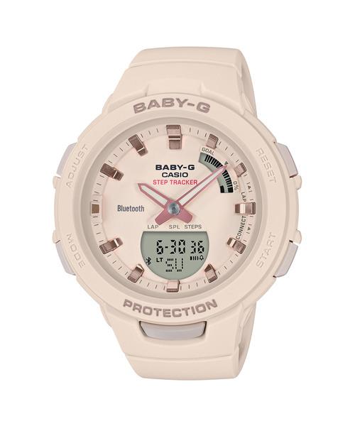 [CASIO] G-SQUAD(ジー・スクワッド) / スマートフォンリンク / BSA-B100-4A1JF / ベビーG