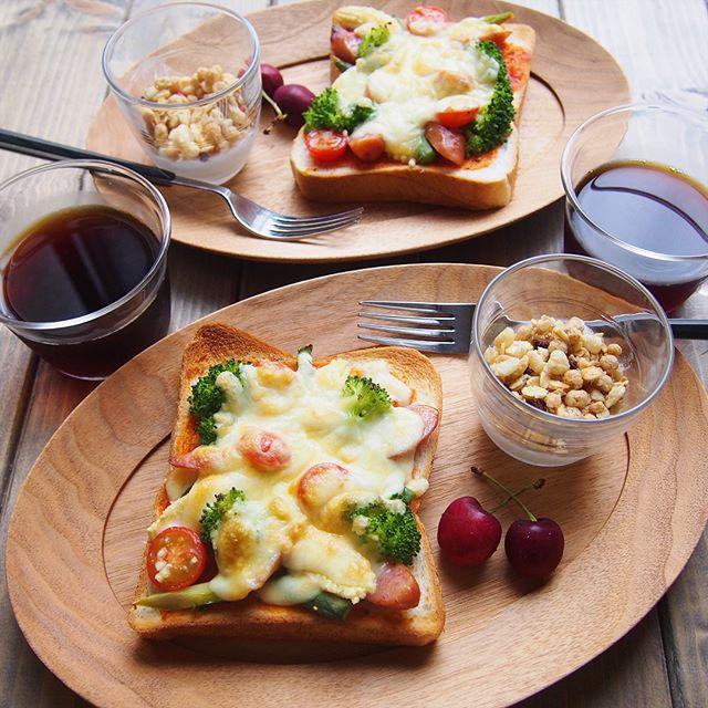 野菜ピザトースト