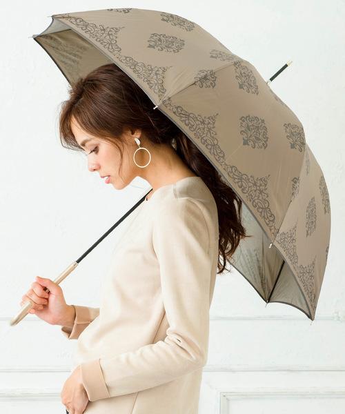 [macocca] 遮光率96%以上遮蔽率99% 軽量晴雨兼用ジャンプ傘 バロック柄