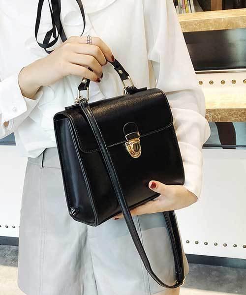 [SVEC] Square Shoulder Hand Bag / スクエア ショルダー ハンド バッグ