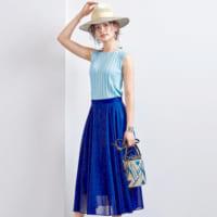 大人女子必見の「きれい色スカート」!夏らしい明るいカラーの着こなし方15選◆