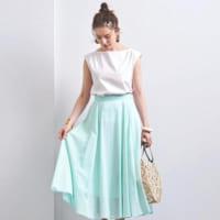 この夏もスカートスタイルに夢中♡季節感まとう軽やか大人スタイル