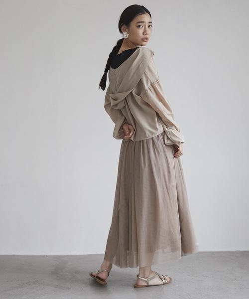 [tocco closet] 【今田美桜さん着用アイテム】トリプルチュールスカート