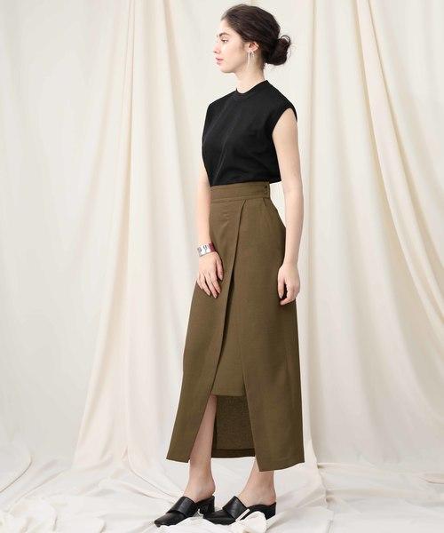 [STUDIOUS WOMENS] 【STUDIOUS】ハイツイスト ロングスリットスカート