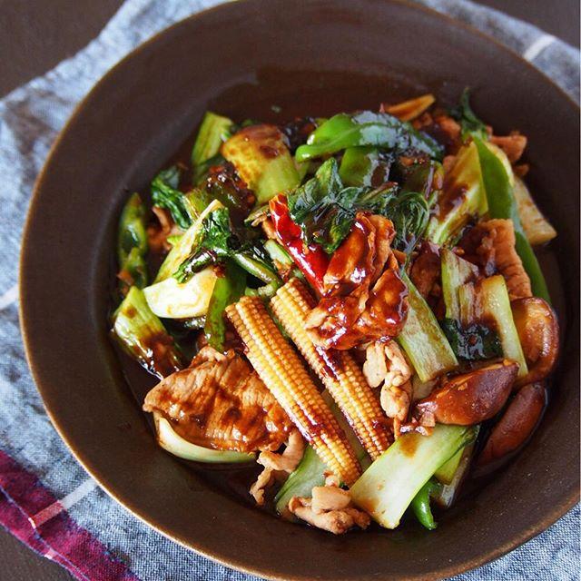 豚肉と青梗菜の回鍋肉