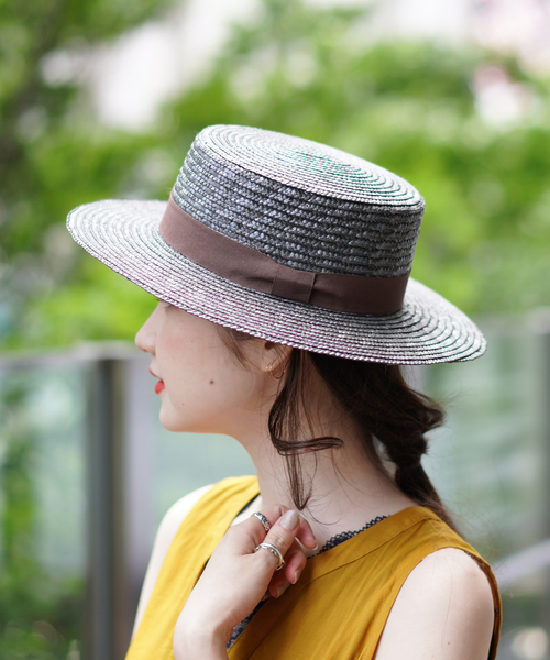 [BEAMS WOMEN] Ray BEAMS / ストロー カンカン帽