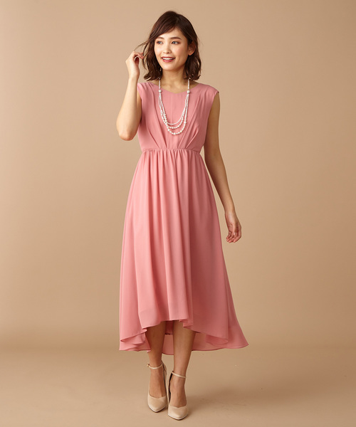 [Roomy's] バックリボンレースドレス