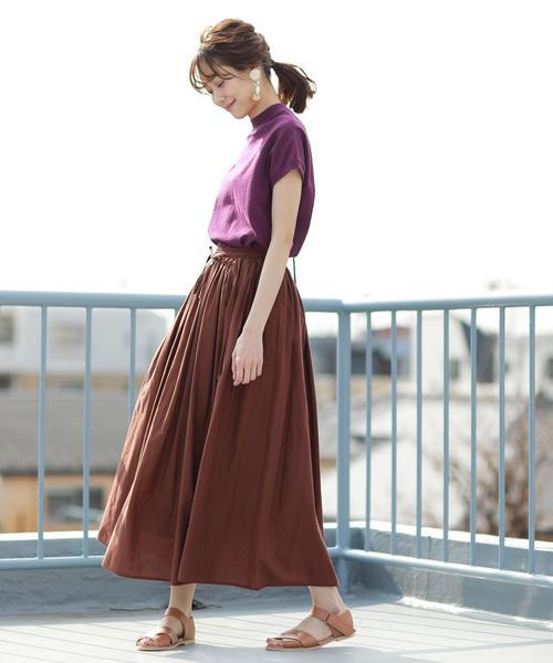 [coen] 【WEB限定カラーあり・新色登場】USAコットンハイネックTシャツ2