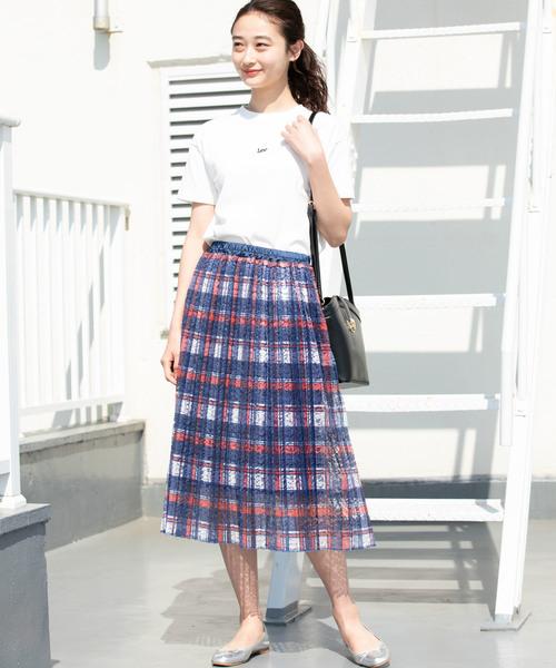 [ViS] 【WEB限定】レースプリーツスカート