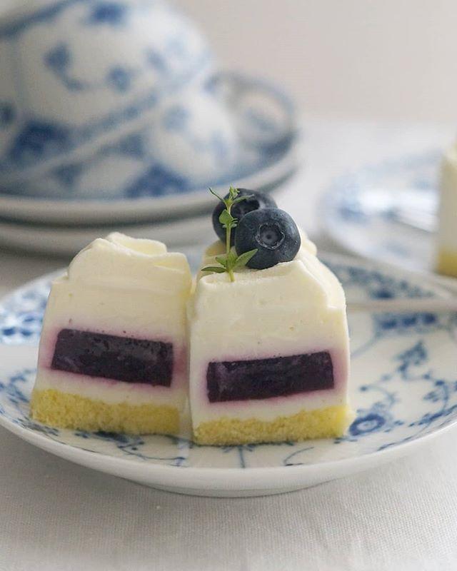 ブルーベリージュレとヨーグルトのムースケーキ