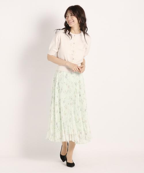[STRAWBERRY-FIELDS] アストロフラワー プリーツスカート