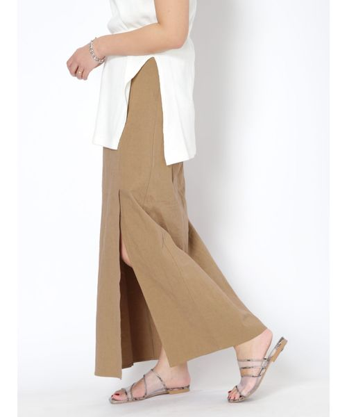 [Ungrid] ストレッチスリットマキシスカート
