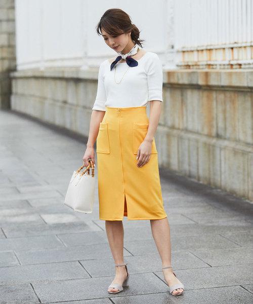 [12Twelve Agenda] ジャージー両ポケタイトスカート