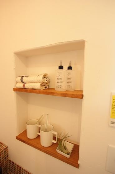 洗面所のニッチ棚
