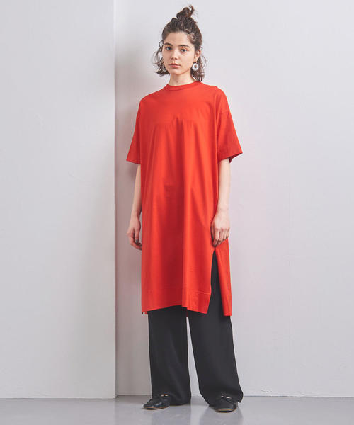 [UNITED ARROWS] <STYLE for LIVING> スリット Tシャツワンピース†