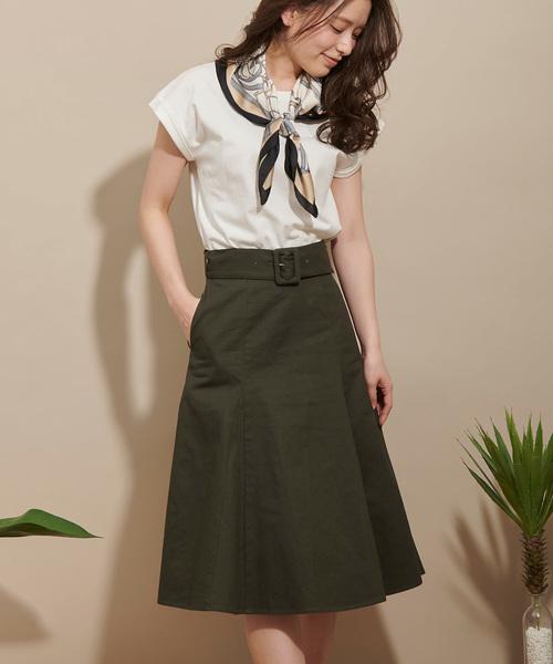 [Noela] フレアヘムスカート