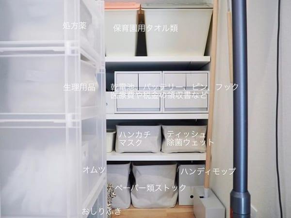 ポリプロピレン収納ケース&ソフトボックスで日用品収納