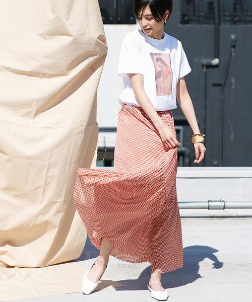 ODORANTES/ギンガムプリーツスカート