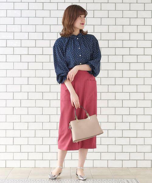 [le.coeur blanc] ポケットツキリネンライクイージータイトスカート
