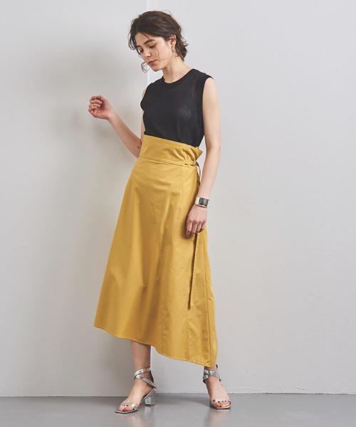 [UNITED ARROWS] <ELIN(エリン)>アシンメトリー ラップスカート