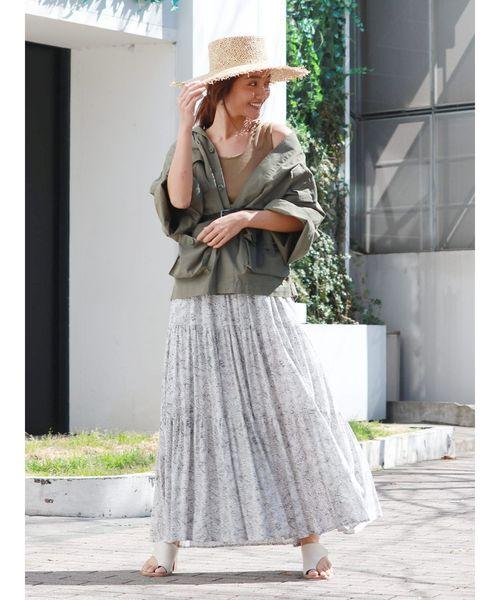 [Ungrid] フラワープリントマキシスカート