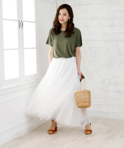 [Doula Doula] ダブルチュールロングスカート